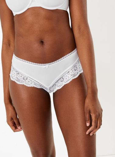 Marks & Spencer Dantelli Brazilian Külot Beyaz